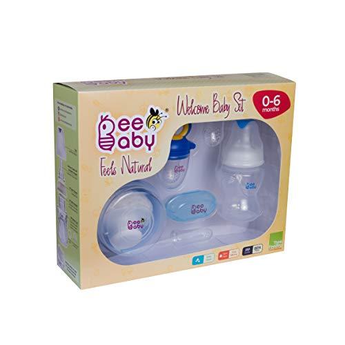 41ijLZZ4e7L BeeBaby New child Welcome Child Set/Present Set. 0M+ (Blue)