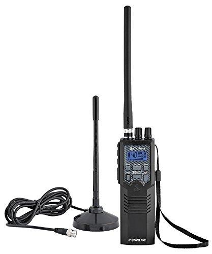 Cobra HHRT50 Road Trip Cb Radio,2-Way Handheld Cb Radio with Rooftop Magnet Mount Antenna, NOAA Channels, Dual Watch, 40 Channel, Black