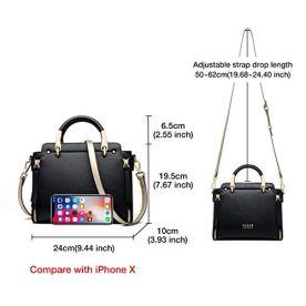 Cowhide-Leather-Designer-Handbag-for-Women-Shoulder-Bag-for-Ladies-Crossbody-Bag-Womens-Top-Handle-Purse-Black-and-Red