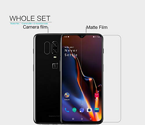 41is75SMmyL - Nillkin Screen Guard for OnePlus 6T One Plus 6 T (1+6) T Whole Set Version Matte Anti Glare Front + Camera Sticker