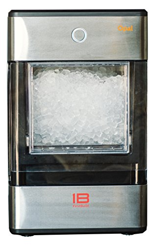 FirstBuild Opal01 Opal Nugget Ice Maker Portable, Countertop, Stainless Steel with Black Accents, 1-(Pack), Wrap