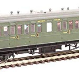 Hornby R4720A SR 58′ Maunsell Rebuilt (Ex-LSWR 48') Nine Compartment Lavatory Third Class Coach '364', Multi 41iscYVztuL