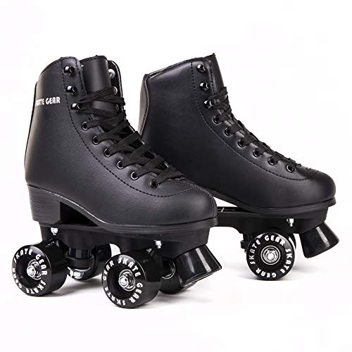 Cal 7 All-Purpose Indoor Outdoor Speedy Roller Skate for Youth and Adults (Black, Youth 5 / Women's 6)