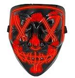 Halloween Masks for AdultsLed Purge Mask Light Up MaskHalloween Mask Led Mask Scary Halloween Mask for Halloween Red