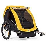 Burley Design Bee, 2 Seat, Lightweight, Kids Bike-Only Trailer, Yellow (946203)
