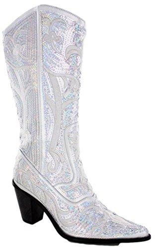 Helen's Heart Bling Boots (11, Silver)