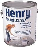 HENRY HE287SF046 Solar-Flex, Gallon, White, Elastomeric Roof Coating by Henry
