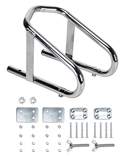 Extreme Max 5001.5763 Deluxe Chrome Motorcycle Wheel Chock - 5.5' Wide