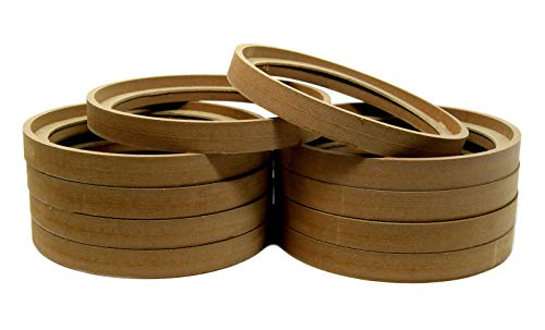 Audiopipe 5 Pair 8' MDF Wood Speaker Ring Recess with Bezel Fiber Glass Molds