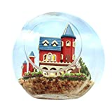 DIY Glass House Kit Miniature Dollhouse Furniture Wooden Handmade Creative Room Glass Ball Model Dollhouse Toy Gift for Kids 1:24 Scale Dollhouse (Alice Dream Castle)