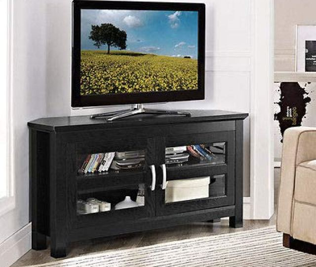 Wood Home Classic Large Corner Tv Stand Home Entertainment Media Center Flat Screen Tv Table Wooden
