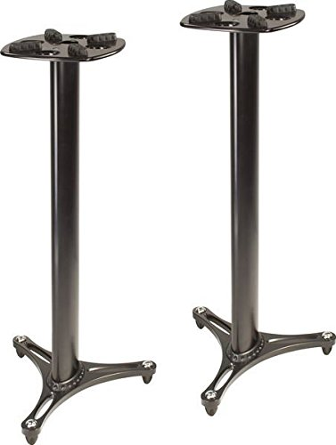 Ultimate Support MS-90/45B MS Series Professional Column Studio Monitor Stand with Non-marring Decoupling Pads - 45'/Black