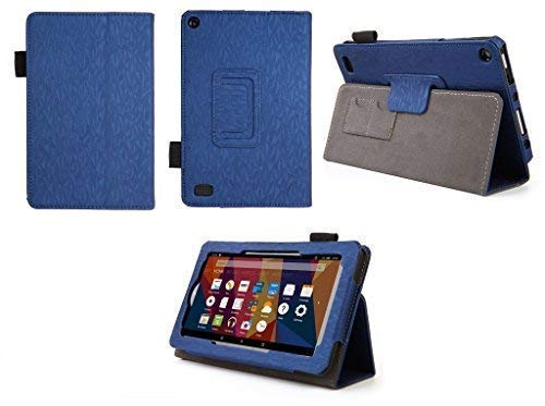 Case for Kindle Fire 7 (5th, 7th and 9th Generation) Tablet - Folio Case with Stand for Kindle Fire 7 Inch Tablet - (Imprint Blue)