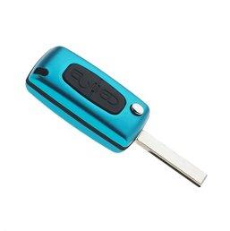 Coque-de-cl-Plip-CE0536-Peugeot-207-307-308-Bleu