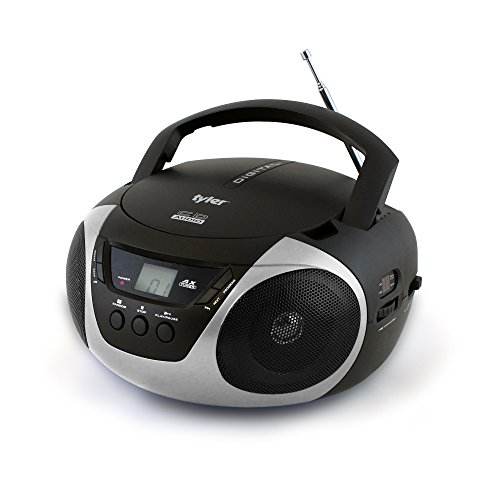 Tyler Portable Sport Stereo CD Player TAU101-SL with AM/FM Radio and Aux & Headphone Jack Line-in (Silver)