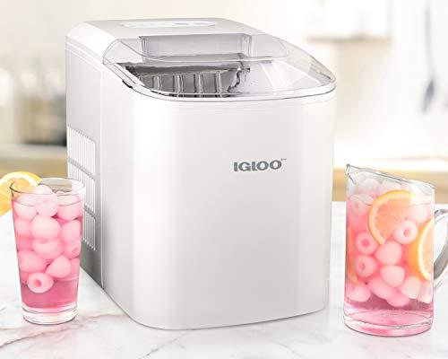Igloo ICEB26WH 26-Pound Automatic Portable Countertop Ice Maker Machine - White