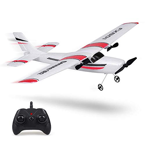 RC Plane, 2.4Ghz 2 Channel Remote Control Airplane Ready To Fly, Durable EPP Foam RC Aircraft Builted in 6-Axis Gyro, Supper Fun Light Weight Easy Fly Remote Control Plane for Kids Boys Adult Beginner