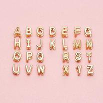 14K Gold Plated 26 Letters A-Z Earrings