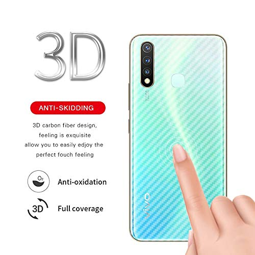 Casodon Vivo U20 Back Guard Carbon Fiber Finish Ultra Thin Scratch Resistant Safety Protective Film - Transparent 1
