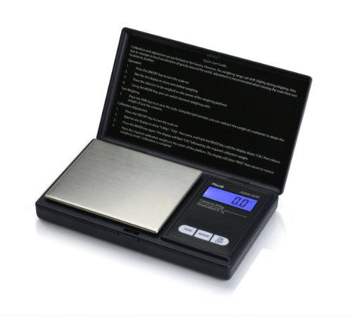 American Weigh Scale AWS Series Digital Pocket Weight Scale, Black, 600G x 0.1G