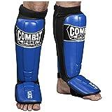 Combat Sports Pro-Style MMA Shin Guards, Blue, Large