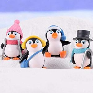 L_shop Winter Penguin Miniature Figurine Mini Christmas Figures Home Decoration Kawaii DIY Fairy Garden Ornaments Resin Craft Kids Toys 41jTq6I1q7L