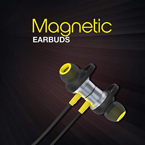 41ja0naQgML Infinity (JBL) Glide 120, in Ear Wi-fi Earphones with Mic, Deep Bass, Twin Equalizer, 12mm Drivers, Premium Steel Earbuds, Snug Flex Neckband, Bluetooth 5.0, IPX5 Sweatproof (Black&Yellow)