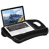LapGear Original XL Laptop Lap Desk with Storage Pockets - Black - Style No. 45592 - US Patent No. D619,823