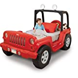 Product review for Jeep Toddler Bed, Red, LED lights in roll bar (rotates 360 degrees)