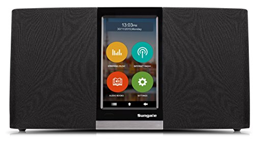 Sungale Wi-Fi Internet Radio with User Friendly Touchscreen Navigation, Listen to Thousands of Radio Stations & Streaming Music Through an Assortment of Popular apps