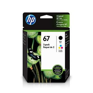 HP 67 | 2 Ink Cartridges | Works with HP Envy 6000 Series, HP Envy Pro 6400 Series, HP DeskJet 1255, 2700 Series…