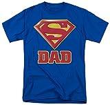 Trevco Superman Super Dad Shield Logo Men's T-Shirt, royal blue, Medium