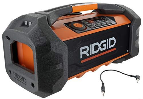 Ridgid R84087 18V Lithium Ion Cordless / Corded Jobsite Radio with...