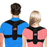 Posture Corrector For Men And Women - USA Designed Adjustable Upper Back Brace For Clavicle Support and...