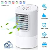 WEINAS Personal Air Conditioner Fan, Personal Space Cooler for Desktop Portable Mini Evaporative Air Cooler,...