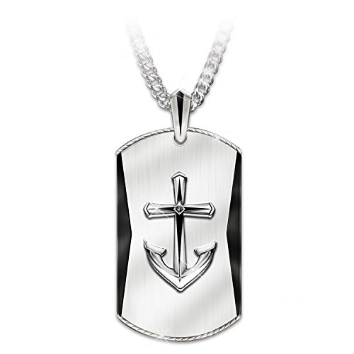 Anchored In Faith Men's Pendant Necklace For Grandson by The Bradford Exchange