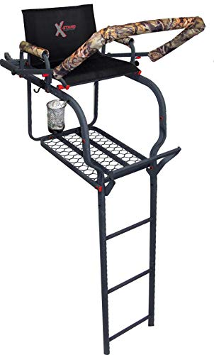 X-Stand Treestands The Duke 20' Single-Person Ladderstand Hunting Tree Stand, Black