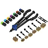 "WORKPRO 15"" Hand Rivet Nut Setter Kit - 79-piece High Leverage Rivet Nut Tool with Metric & SAE Mandrels and Nuts"
