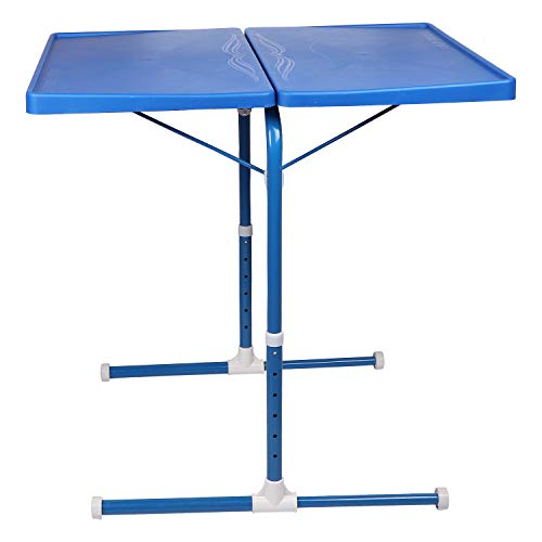 MULTI - TABLE Dual Side Multi Purpose Adjustable Foldable Utility Table for Laptop, Study, Kids, Office, Meal (Blue) 4