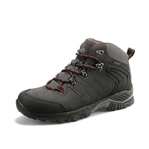Clorts Men's Hiking Boot Waterproof Lightweight Backpacking Trekking Trail Shoes Dark Grey HKM-822A US11.5