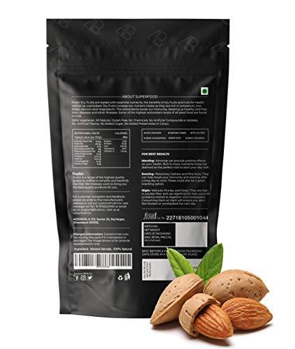 41jzzfMzQML - Fruitri Premium California Almonds, 100% Natural Badam Giri (250gm)