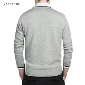 Spinning Cotton Sweater Pullover Men Fit Knitting Solid Clothing New M-3XL