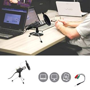 Studio-Recording-Microphone-Condenser-Microphone-Professional-PC-Live-Streaming-Cardioid-Microphone-Kit-with-Shock-Mount-Pop-Filter-Plug-and-Play-PC-Microphone-for-Broadcasting-Recording-YouTube