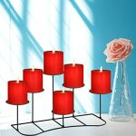 smtyle-DIY-6-Fireplace-Candle-Candelabra-Candleholder-Mantle-Decor-for-Flameless-or-Wax-Pillar-Candles-Stand-with-Black-Iron-Decoration-on-Desk-or-Floor