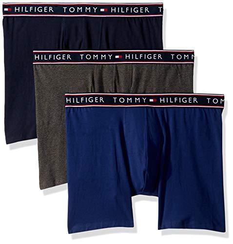 Tommy Hilfiger Men's Underwear Cotton Stretch Boxer Briefs, sea, Small
