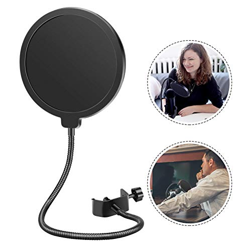 Neewer-Professional-Microphone-Pop-Filter-Shield-Compatible-with-Blue-Yeti-and-Any-Other-Microphone-Dual-Layered-Wind-Pop-Screen-With-A-Flexible-360-Degree-Gooseneck-Clip-Stabilizing-Arm
