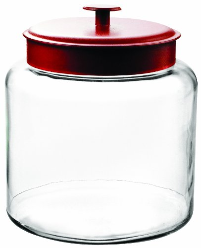 Anchor-Hocking-Montana-Glass-Jar-with-Airtight-Lid-Red-Metal