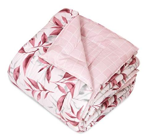 COZY-FURNISH-All-Season-5-Star-Hotel-Microfiber-Warm-DuvetAC-ComforterQuilt-Special-for-All-Seasons-Printed-Comforter-Reversible-Comforter-Pink90-x-100-Double