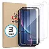 MANTO [3-Pack] Screen Protector for iPhone XR 6.1 Inch Tempered Glass Protector Film 3D Touch, Anti Fingerprint, Case Friendly, Clear