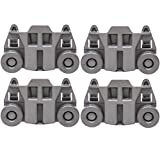 Odowalker Pack of 4 Dishwasher Premium Wheels Lower Rack for Kenmore Elite Dishwasher Parts W10195417 Kitchen Aid Dishwasher